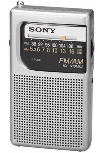 Panasonic RF-PPocket AMFM Radio, Silver